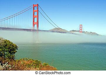 el, puente de la puerta de oro, en, san francisco