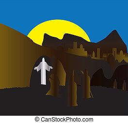 el, resurrección, de, jesús