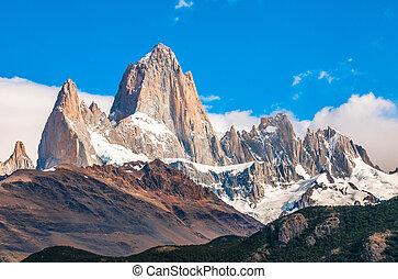 el, roy, fitz, chalten, argentina, patagonia, montaña
