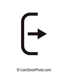 el, salida, bolsa, icon., logout, y, output.