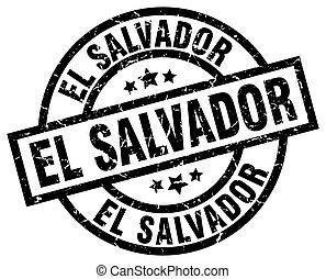 El Salvador black round grunge stamp