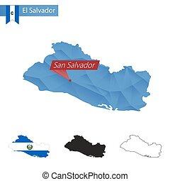 El salvador outline map set . El salvador blank detailed outline map ...
