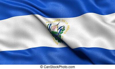 El Salvador flag seamless loop - Seamless loop of El...
