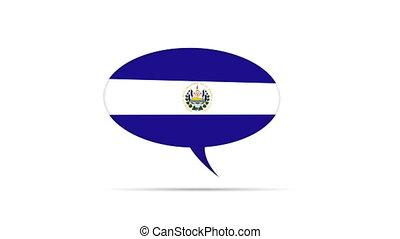 El Salvador Flag Speech Bubble - Spinning El Salvador Flag...
