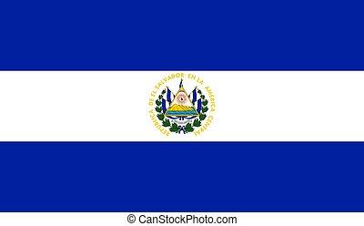 El Salvador Flag  - Vector Illustration