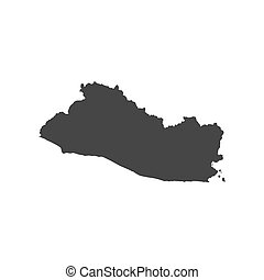 El Salvador map on the white background. Vector illustration