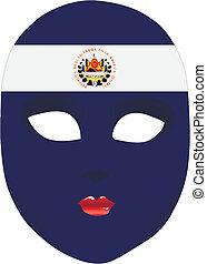 El Salvador mask - Classic mask with symbols of statehood of...