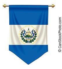 El Salvador Pennant - El Salvador flag or pennant isolated...