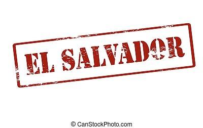 El salvador - Stamp with text El Salvador inside, vector...