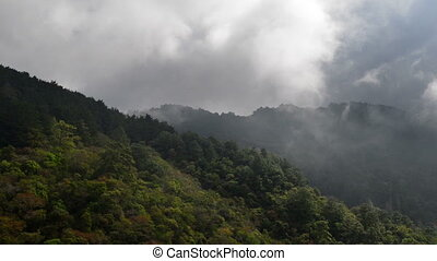 El Salvador Time Lapse - Floating clouds in the mountains of...