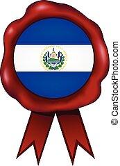 El Salvador Wax Seal - El Salvador wax seal.