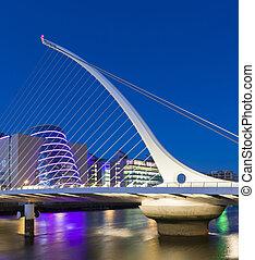 el, samuel, beckett, puente, en, dublín, irlanda