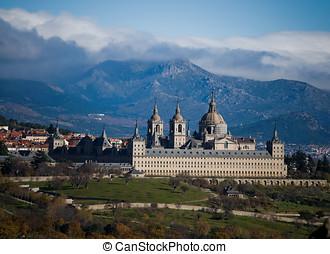 el, san, madryt, klasztor, od, królewski, lorenzo, escorial,...
