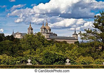 el, san, monasterio, de, agujas, lorenzo, escorial, españa