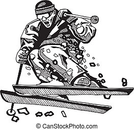 el snowboarding, esquí, y