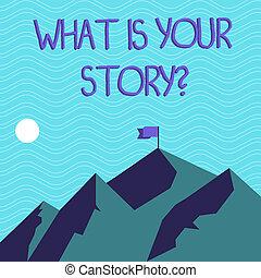 el storytelling, texto, señal, pasado, peak., su, qué, foto,...