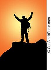 el subir de la roca
