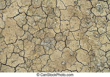 el, superficie, de, el, árido, soil.