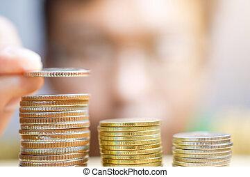 el suyo, coins, condes, tabla, hombre