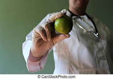 el suyo, imagen, objekt, mano, doctor