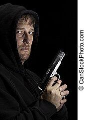 el suyo, ladrón, arma de fuego