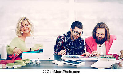 el suyo, marca, moderno, creativ, diseñador, dibujos, equipo...