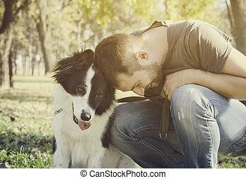 el suyo, perro, hombre