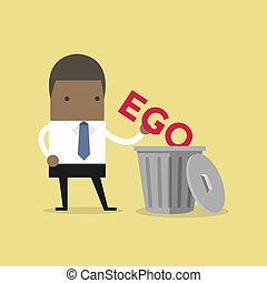 el suyo, trash., ego, africano, hombre de negocios, tiro