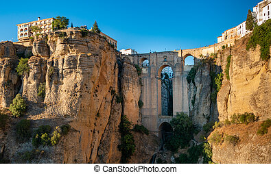A picture of the New Bridge and the El Tajo canyon, in Ronda.