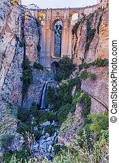 El Tajo Gorge and Puente Nuevo in Ronda. Ronda, Andalusia, Spain.