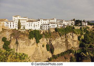 El Tajo Gorge in Ronda. Ronda, Andalusia, Spain.