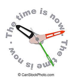 el, tiempo, es, ahora