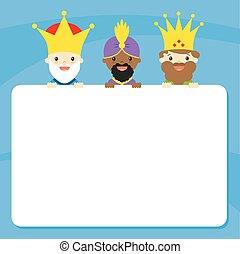 el, tres, reyes, de, oriente