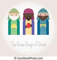 el, tres, reyes, de, oriente, wisemen