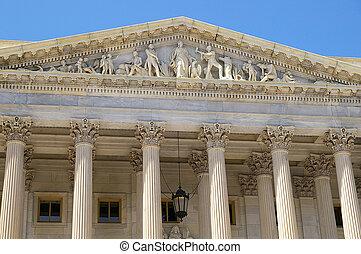 el, tribunal supremo, edificio, en, washington, cc