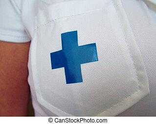 el uniforme de enfermera
