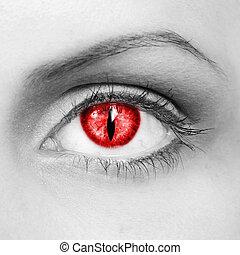 el, vampiro, ojo