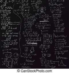 el, vector, plano de fondo, con, físico, fórmulas