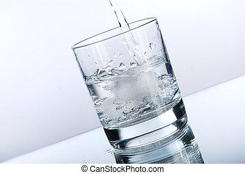 el verter, líquido, vaso