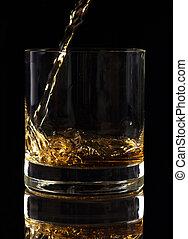el verter, licor, vidrio