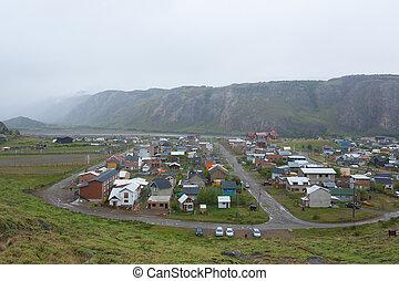 el, vista, chalten, aldea, argentina, patagonia, montaña