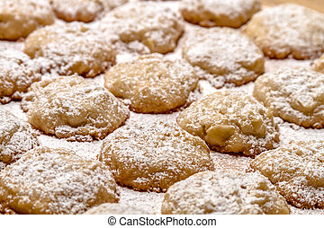 elaboración, astilla, galletas, papa