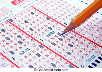 elaboración, boleto, lotería