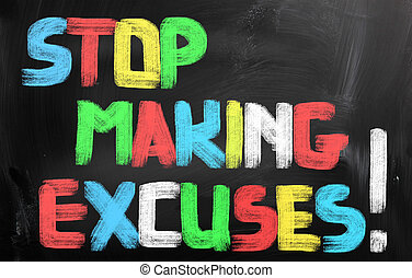 elaboración, concepto, parada, excusas