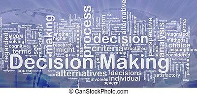 elaboración, decisión, concepto, plano de fondo