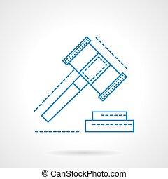 elaboración, decisiones, azul, resumen, icono, vector, línea