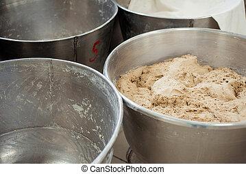 elaboración, panadería, masa, bread