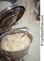 elaboración, panadería, masa, kneader, bread
