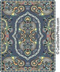 elaborate original floral large area carpet design for print...