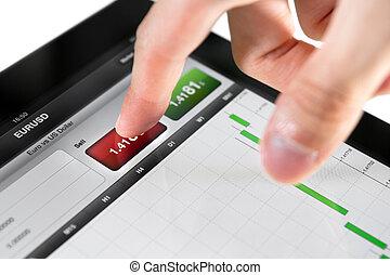eladás, képben látható, tőzsdepiac